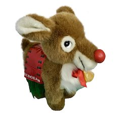 Rudolph Christmas Santa's Reindeer Nanco Toy Connection Stuffed Animal Plush