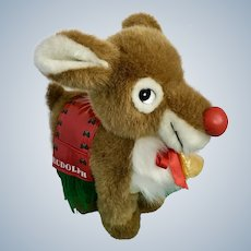 Rudolph Christmas Santa's Reindeer Nanco Toy Connection Stuffed Animal Plush