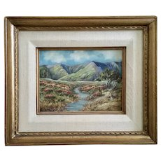 Hazel L Hummel (1890 – 1965) Autumn Mountain Oil Painting Signed by Listed California Artist