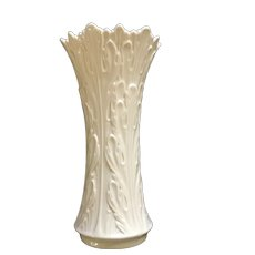 "Lenox Woodland Collection 8-1/2 "" Vase  Embossed Leaves 1983 - 1999 USA"