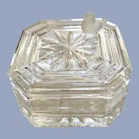 Hofbauer Crystal Byrd Trinket Box with Frosted Bird Made in Germany