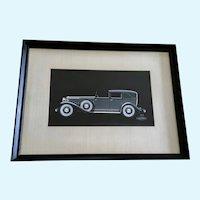 V16 Cadillac Convertible Sedan Fleetwood Car Watercolor Painting