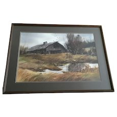 James (Jim) R Fallier, AWS Watercolor Painting Signed by Listed Kansas Artist