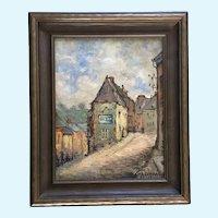 Alphonse Sondag (1873 - 1971), European French Street Scene Oil Painting