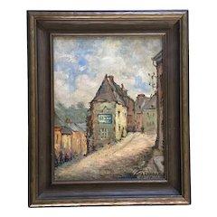 Alphonse Sondag (1873 - 1971), European French Street Scene Oil Painting Signed by Listed Artist