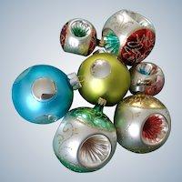Vintage Christmas Ornament Ball Mercury Indents Glass