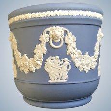 Wedgwood Pale Blue Jasperware Small Grecian Flower Pot