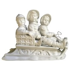 Dept 56 Christmas Sleigh Ride Bisque Silhouette Figurine