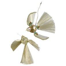 Mid-Century Bird Ornaments for Christmas Tree Decorations