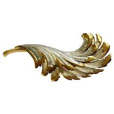 Gold-Tone & Silver-tone Leaf Brooch Pin