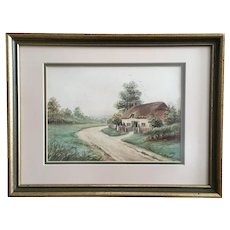 E Grant, European Landscape Watercolor painting Signed by Artist
