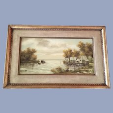Lintz, Island Landscape Oil Painting Signed by Artist