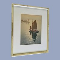 Yoshida Hiroshi Japanese Woodblock Print Calm Wind 1937 Hand Signed by Artist
