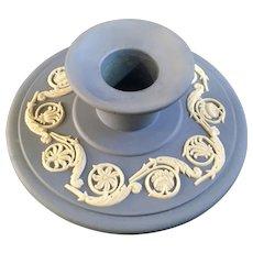 Wedgwood Pale Blue Jasperware Banquet Candlestick Single