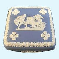 Wedgwood Pale Blue Jasperware Square Trinket Box Ulysses Chariot