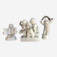 Dept 56 Snowbabies Sing Me a Song, Rejoice, Winter Celebration Bisque Figurines