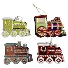 Vintage Trains Christmas Tree Ornaments
