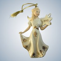 Lenox Annual Angel Ornament 2013 Rare Figurine
