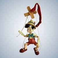 Disney Store Pinocchio Marionette Ornament 2007