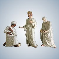 Lenox Christmas Classic Nativity Collection Three Kings Magi Porcelain Figurine Set 1995