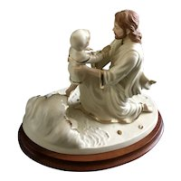 Lenox Jesus and Child 'Footprints' Figurine 1998