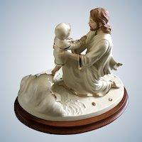 Lenox Jesus and Child 'Footprints' Figurine 1998