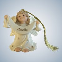 Lenox Christmas, An Angel of My Own Personalized Named Amelia Ornament