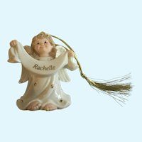 Lenox Christmas, An Angel of My Own Personalized Named Rachelle Ornament