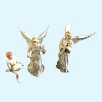 Lenox Christmas Classic Nativity Collection The Two Angels and Boy Porcelain Figurine