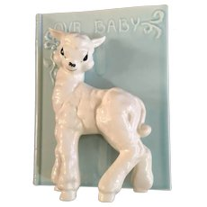 Baby Lamb Planter Vase Kay Finch Mid-Century California Pottery Our Baby