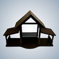 Lenox Nativity Large Creche Manger Stable Wooden House