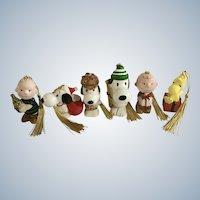 Snoopy, Woodstock, Linus and Charlie Brown Peanuts Figurines Christmas Tree Ornaments