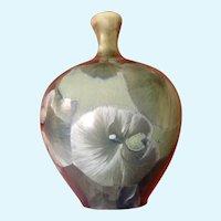 Signed Crystalline Bud Vase Art Pottery