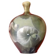 Signed Crystalline Bud Vase Art Pottery