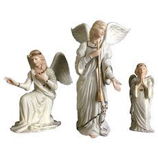 Lenox Christmas Classic Nativity Collection Angels In Adoration Porcelain Figurine Set 1995