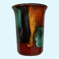 Poole Pottery Delphis Cup England Volcano Lave Glaze