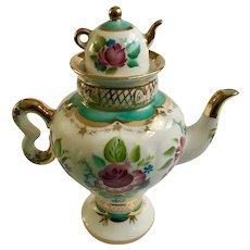 Elegant Floral Teapot Russian USSR Lomonosov Porcelain #1744