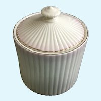 Vintage Belleek Pink Tinted Gold Trim Small Canister Ireland 1980-1992