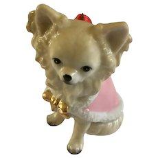 Chichiwawa Puppy Dog Christmas Tree Ornament DNC Fine Porcelain Figurine