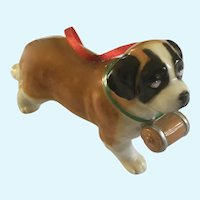 Saint Bernard Dog Christmas Tree Ornament DNC Fine Porcelain Figurine