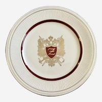 "Shenango Corsican Restaurant Ware Washington DC Advertisement Dinner Plate Z 11"""