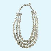 Stunning Multi-Strand Crystal Glass Necklace
