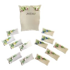 Name Place Card Settings with Menu Board Floral Porcelain 13 Pieces