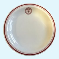 WWI TEPCO China Buffalo Pottery US Army Medical Corps Bread Plate