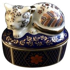 Takahashi Cat Trinket Box San Francisco Pottery Made in Japan