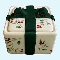 Pfaltzgraff Winterberry Square Trinket Candy Box NIB