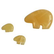 Polished Crystal Stone Bears Paperweights
