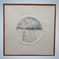 Juan Quevedo, Forest Limited Edition Hand Colored Watercolor Etching Signed by Listed Artist