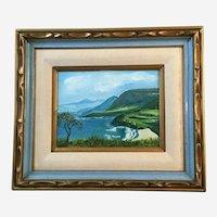 Marjorie Kulp, Island Coastal Landscape Oil Painting Signed by Artist