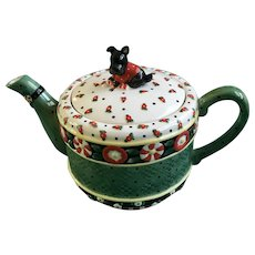 Mary Engelbreit, A Christmas Wish Scotty Dog Teapot Michel & Company 2001